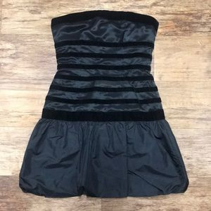 Strapless bubble Bebe dress.